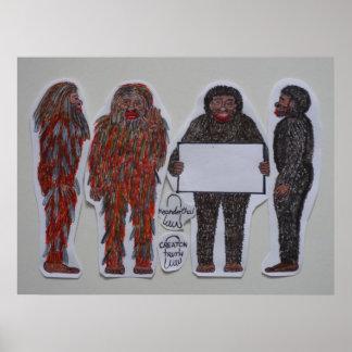4 Neanderthals, Posters