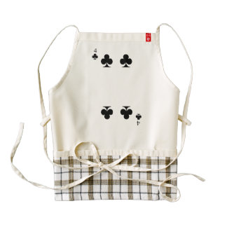 4 of Clubs Zazzle HEART Apron