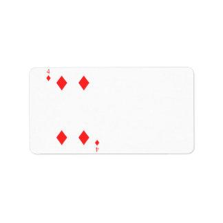 4 of Diamonds Label