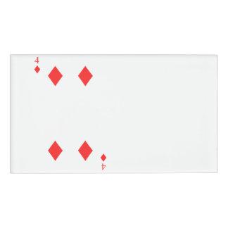 4 of Diamonds Name Tag