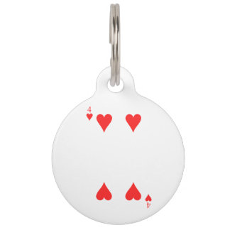 4 of Hearts Pet Name Tag