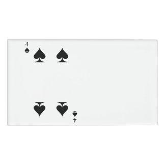 4 of Spades Name Tag