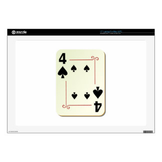 4 of Spades Playing Card Laptop Decal
