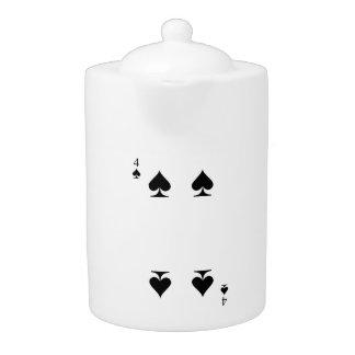 4 of Spades Teapot