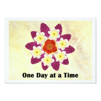 4 One Day at a Time 5x7 Paper Invitation Card