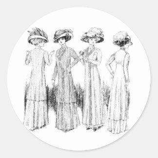 4 opulentos pegatina redonda