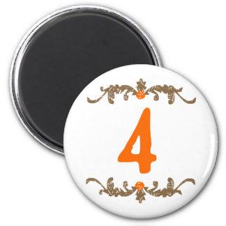 #4 Orange & Brown Scroll Magnet