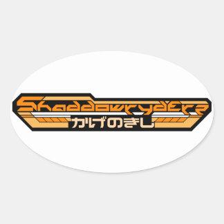 """4"""" ORANGE SHADDOWRYDERZ STICKER (4 PACK)"""