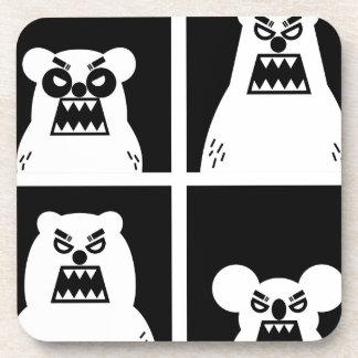 4 osos enojados posavasos de bebidas