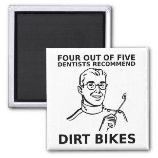 4 Out Of 5 Dentists Dirt Bike Motocross Magnet