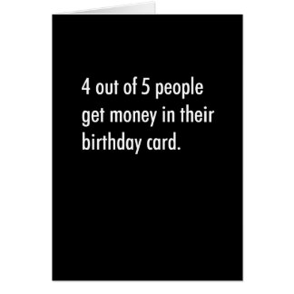 4 Out Of 5 People Receive ... Card