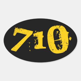 4 Pack -710 Oil Sticker Round