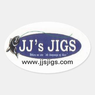 4-pack of JJ's Jigs Oval Sticker