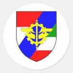 4.Panzergrenadierdivision Pegatina Redonda