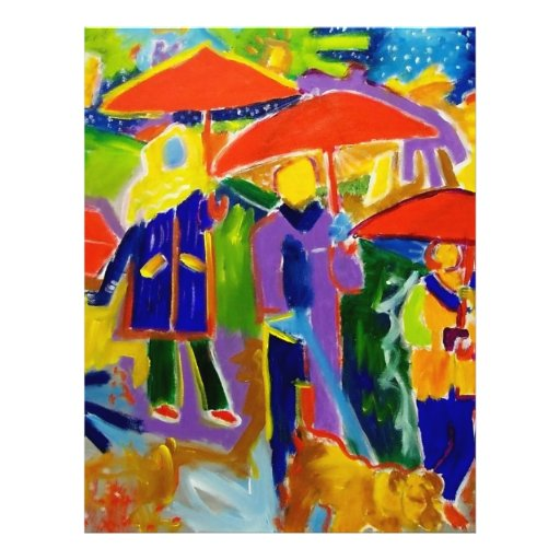 4 paraguas rojos por Piliero Tarjetas Informativas