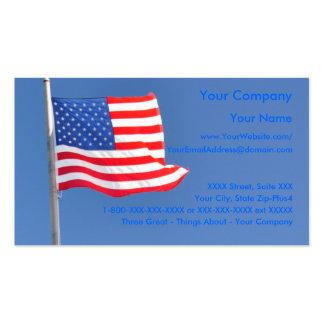 4 patrióticos - plantilla de la tarjeta de visita