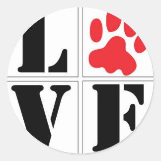 4-paws classic round sticker