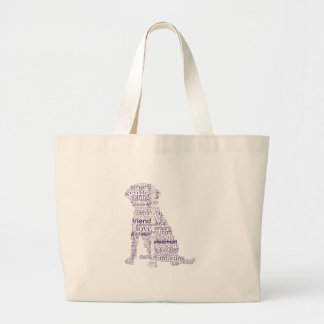 4 Paws Purple & Gray Large Tote Bag