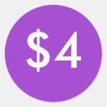 $4 PEGATINA REDONDA