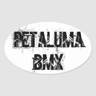4 pegatinas del óvalo de Petaluma BMX Calcomanía Ovaladas Personalizadas
