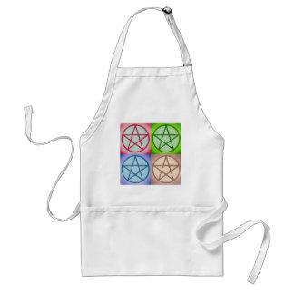 4 pentagrams adult apron