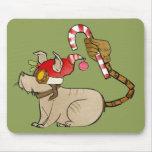 4 pequeños monstruos - logotipo del día de fiesta  alfombrilla de raton