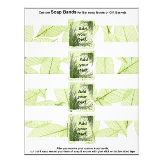 4 per sheet Bar Soap Band Leaves Paper Party Favor Flyers
