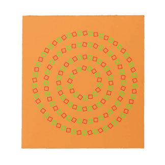 4 Perfect Circles (Optical Illusion) Notepad