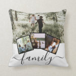 "4 Photo Collage Family Personalized Throw Pillow<br><div class=""desc"">4 Photo Collage Family Personalized throw pillow from Ricaso - black and white with 4 photo templates</div>"