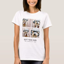 4 Photo Collage Minimalist - Best Year Ever T-Shirt