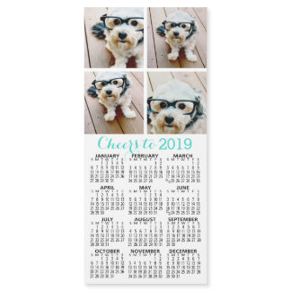 4 Photo Collage with 2019 Calendar