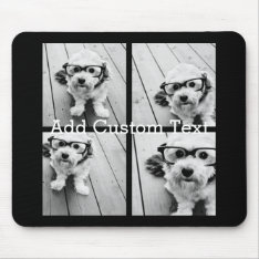 4 Photo Collage - You Can Change Background Color Mouse Pad at Zazzle