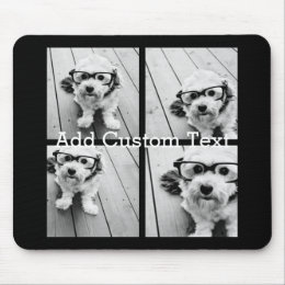 4 Photo Collage - you can change background color Mouse Pad