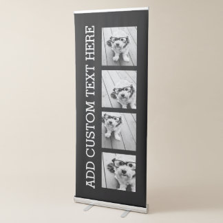 4 Photo Collage - you can change background color Retractable Banner
