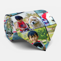 4 Photo Customized Collage Color Neck Tie