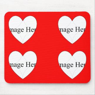 4 photo Heart Shapes Mousepad