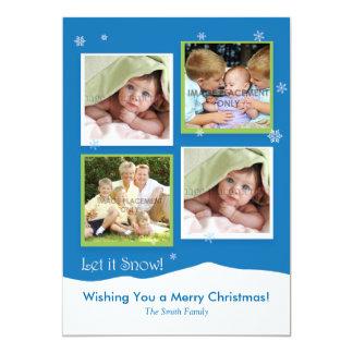 "4 Photo Holiday Card 5"" X 7"" Invitation Card"