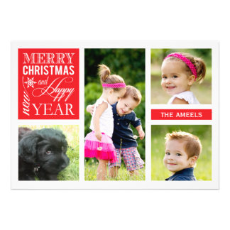 4 Photo  |  Holiday Photo Card