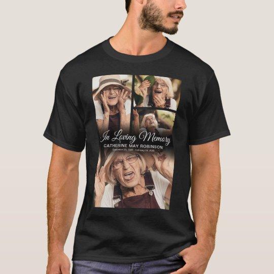 4 Photo In Loving Memory Black T-Shirt