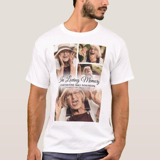 4 Photo In Loving Memory T-Shirt