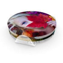 4 Photo Template Personalized Coaster Set