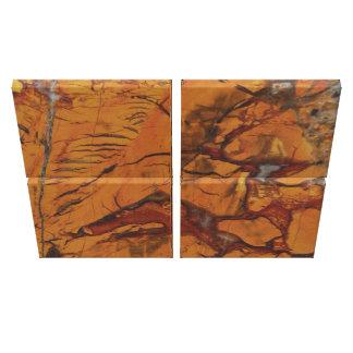 4 Piece Quad Red Jasper and Quartz Photo Print