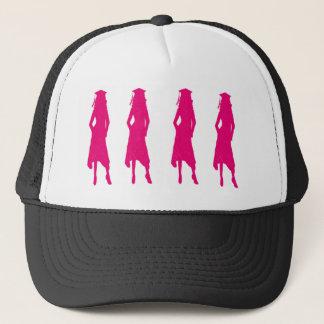 4 Pink Grad Girls Trucker Hat