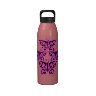 4 Pink Skeleflies Liberty Bottle Water Bottle