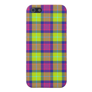 4 * - Plaid Purple / Blue / Lime iPhone 5 Covers