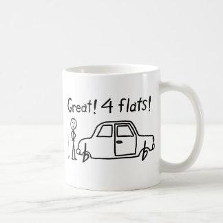 4 planos tazas de café