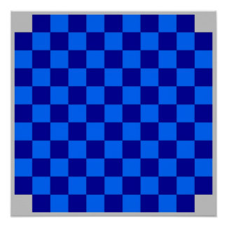 4 Player Checkers TAG Board (Fridge Magnet Game) Posters