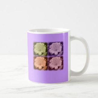 4 Pop Art Flower Design Classic White Coffee Mug