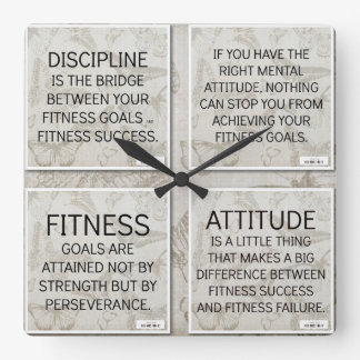 4 Quotes for Fitness Motivation: Wall Clock