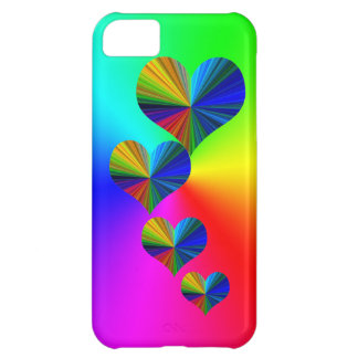 4 Rainbow Hearts Case For iPhone 5C